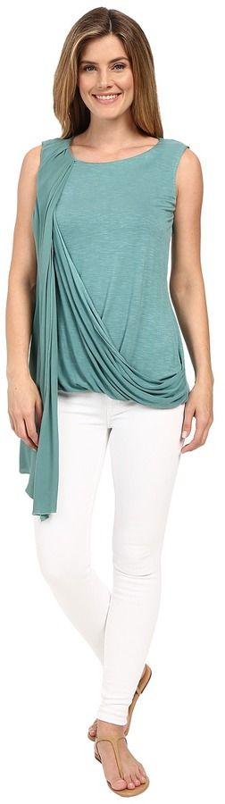 Miraclebody Jeans Gigi Side Drape Blouse w/ Body-Shaping Inner Shell