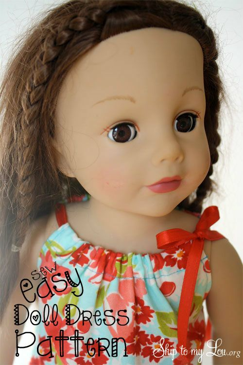 Free American Girl Doll Pattern from Skip to my Lou. You can make this in thirty minutes!