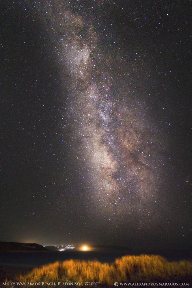 The Milky Way at Elafonisos, Greece. - Click through the photo, to get information on how to visit Elafonissos.