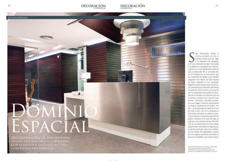 Suplemento de #decoracion y #tendencias de 'El Correo': #despacho de abogados Staff Legal, en #Bilbao. Una obra de Landa Ebanistería y Sube Contract.