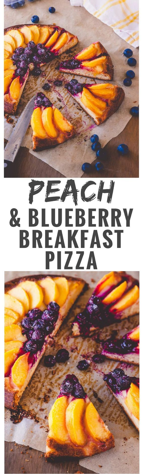 Looking for a decadent weekend breakfast treat? Then this peach and blueberry breakfast pizza recipe might just fit the bill.