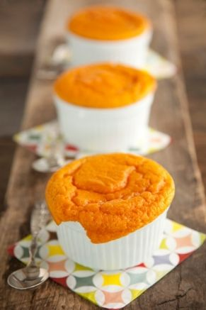 Paula Deen Carrot Souffle. One of our new favorites and just recently baked one for Treetime during the Easter Holiday!