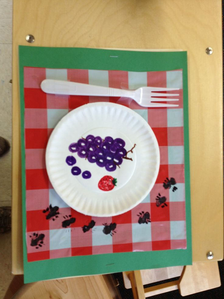 Ants on a picnic craft