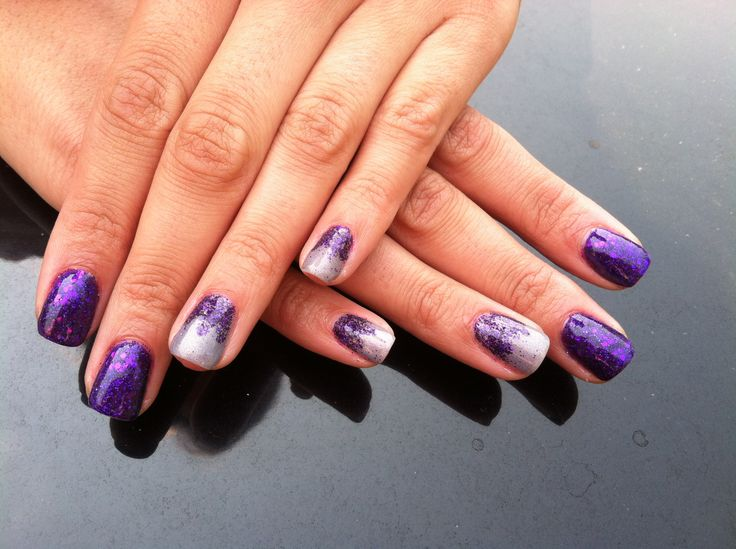 Shellac nails glitter fade | My shellac nail art | Pinterest