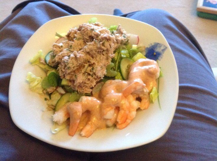 Tuna & Prawn salad Step 2