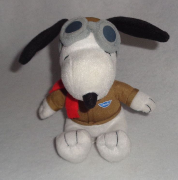 """Metlife Snoopy Flying Ace Pilot 6"""" Plush Peanuts 2015"""