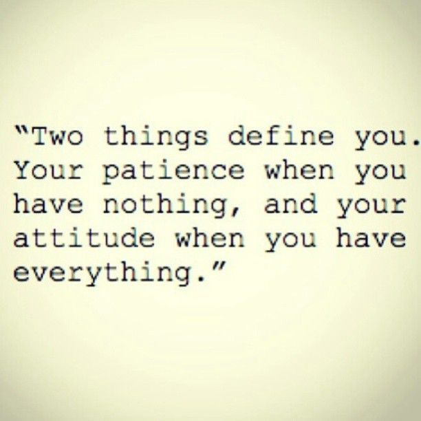 Two things define you.