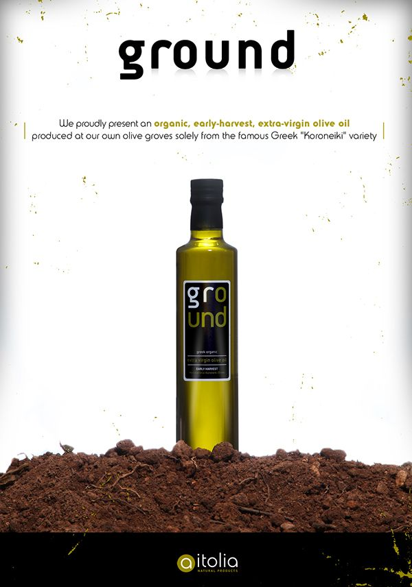 GROUND / Greek Organic Extra Virgin Olive Oil by Angelos Theodoropoulos, via Behance