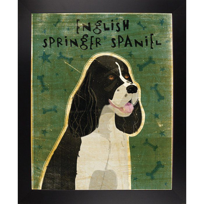 English Springer Spaniel Black And White Graphic Art Print English Springer Spaniel English Springer Springer Spaniel