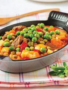 Kuzu etli ve kırmızıbiberli bezelye Tarifi - Türk Mutfağı Yemekleri - Yemek Tarifleri