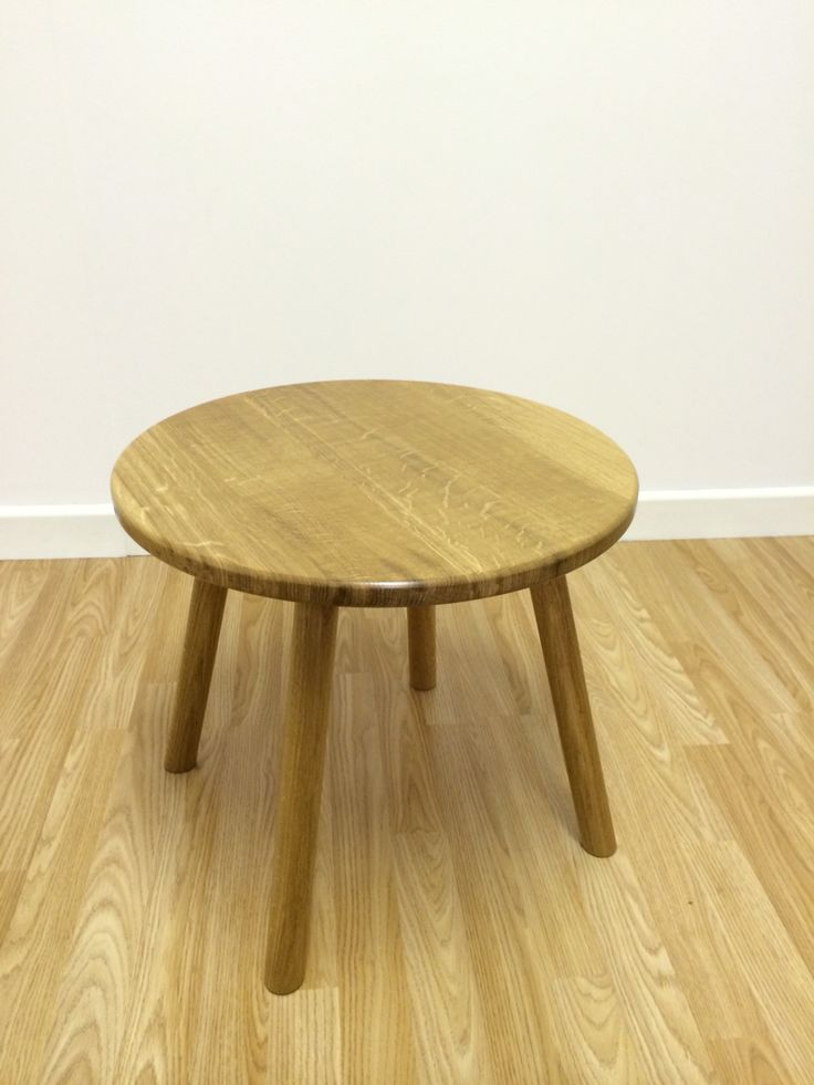 Small Oak Coffee Table, With Quarter Sawn Top. Mid Century Styled Design.