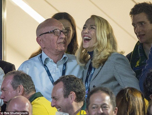 The Australian American was in fine form as he kept Jerry Hall amused during the exciting ...