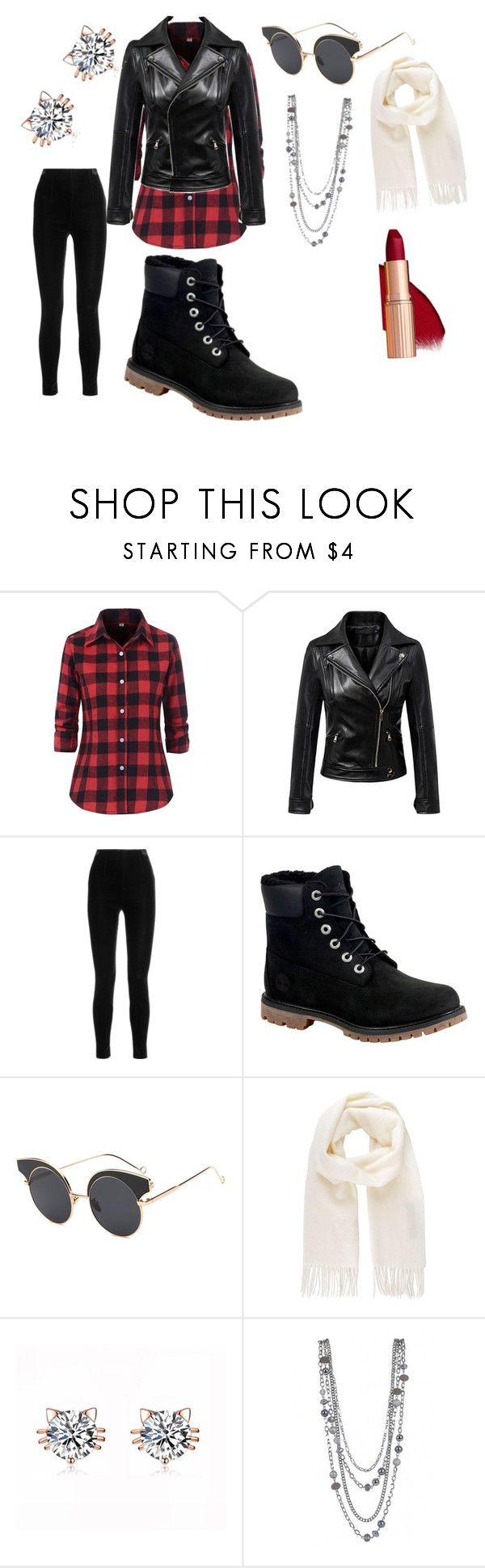 """""""First day of winter"""" by melissa-kalay ❤ liked on Polyvore featuring Chicnova Fashion, Balmain, Timberland and Vivienne Westwood"""