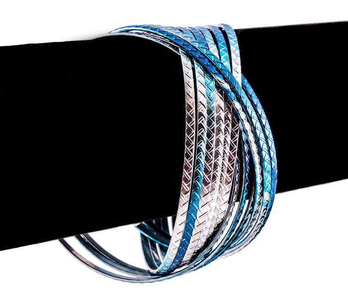 Bizsu Karkötők Bona ezüst kék