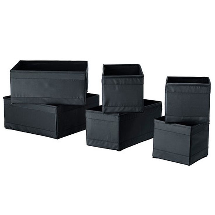Organizer do szuflady 6 pojemników czarny