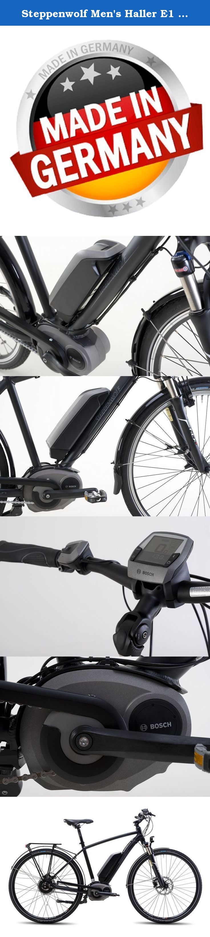 Steppenwolf Men's Haller E1 Electric Bicycle, Shadow Matte, 21 in. Simple and fast is the best description of the haller e! long distances are effortlessly overcome with its powerful engine. Bosch means abundant 400 watt battery, making our haller e one of the quality pioneers of emission-free motorized mobility. Also available with low-maintenance gates belt drive and wave SWE045-5401H-1 with low step. These bicycles come 99% assembled. Images reflect frame and color only, please review...