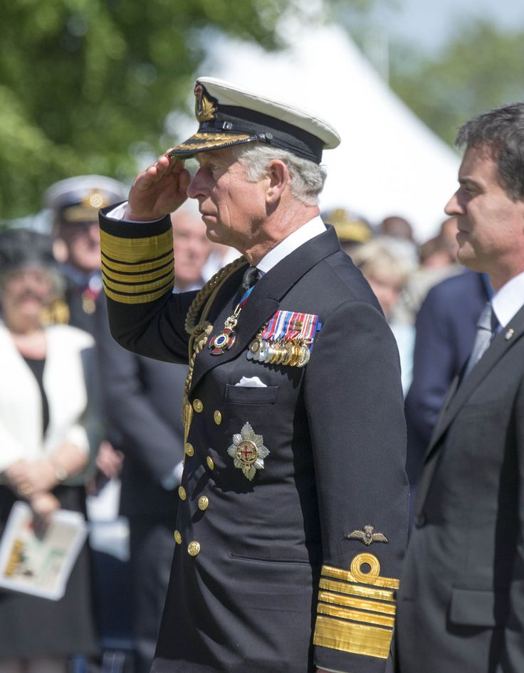 Prince Charles, Prince of Wales attends Bayeux Cemetary during D-Day 70 Commemorations on June 6, 2014