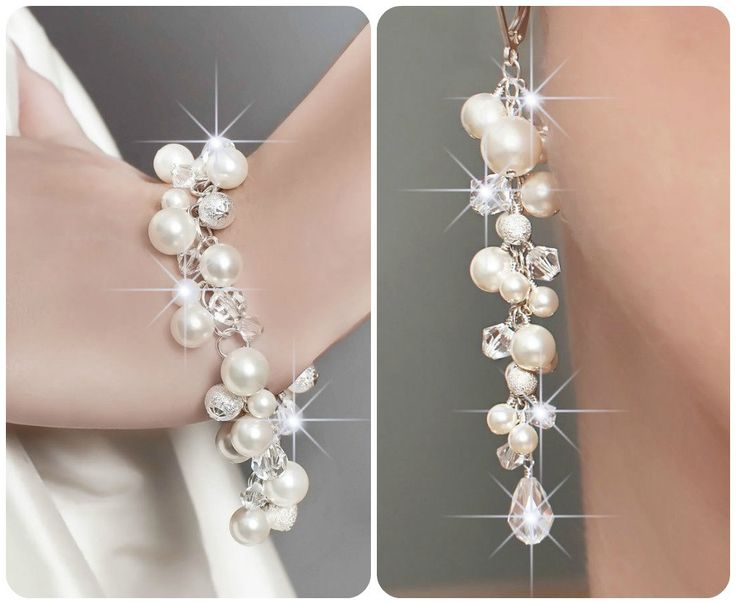 Wedding Jewelry SET Pearl By Somethingjeweled