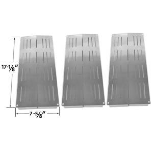 3 PACK STAINLESS STEEL HEAT SHIELD FOR CHARBROIL 4632210, 4632215, 463221503, 4632220, 4632235, 4632236, 4632240, 4632241, 463231503, 463231603, 463233503, 463233603, 463234603 AND GRAND CAFE GC-1000 GRILL MODELS Fits Compatible Grand Cafe Models : GC2000 , Grand Cafe 1000 , Grand Cafe 2000 , Grand Cafe 3000