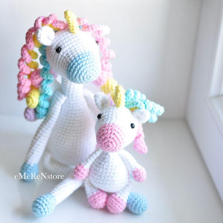 Set of 2 <b>unicorns</b>. Baby <b>unicorn</b>. <b>Cute unicorn</b>. Amigurumi <b>unicorn</b> ...