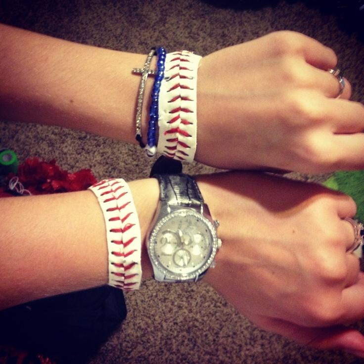 Baseball bracelets!