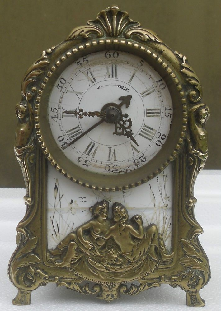 rare pendule pendulette horloge ancien cartel reveil en bronze email 19eme clock horloges. Black Bedroom Furniture Sets. Home Design Ideas