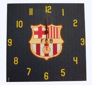 """Official Licensed Genuine FC Barcelona 12"""" x 12"""" Vintage - Antique Style Wall Clock - Official FC Barcelona Merchandise W/Tags by F.C. Barcelona. $49.99. Note - """"Marks"""" on the clock are part of the vintage style;Made of Wood. IMPORTANT CHRISTMAS SHIPPING NOTICE!! - if ordered AFTER Dec. 5th, we CANNOT guarantee arrival by Christmas Eve (although the closer it is to the 5th, chances are it will arrive) - Reason is that US postal mail Volume is extremely heavy, which may prolong t..."""