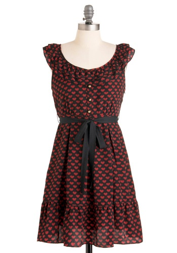 Little red hearts...so cute! Modcloth.com