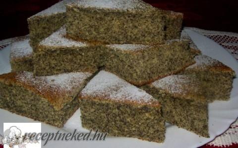 Mákos kevert süti recept fotóval