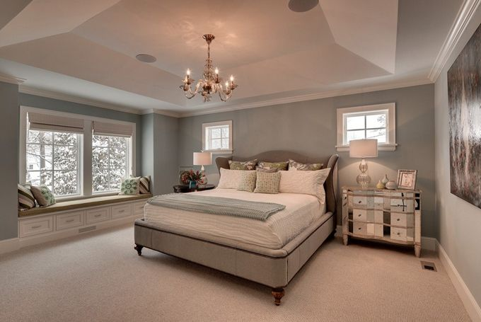 Nice color scheme again another canvas is used for art for Bedroom colour matching