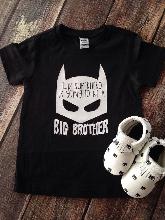 Pregnancy Announcement Kids Shirt Super Hero by PurplePossom