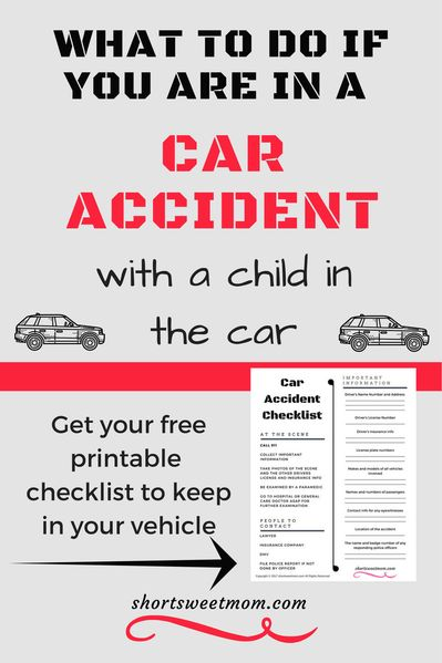 What to do if you are in a Car Accident with a Child in the Car - Live life to the fullest