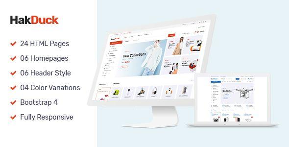 Hakduck Electronics Bootstrap 4 Ecommerce Template Woocommerce Wordpress Themes Shopify Theme Ecommerce Template