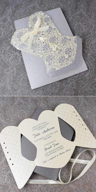Inside corset invitation