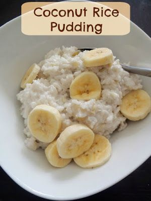 Coconut Rice Pudding:  Leftover rice and coconut milk combine to make a creamy, delicious, and vegan breakfast or dessert.