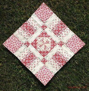 """Fabadashery's lovely 6"""" sq block. Amazingly small pieces - English Paper Piecing."""