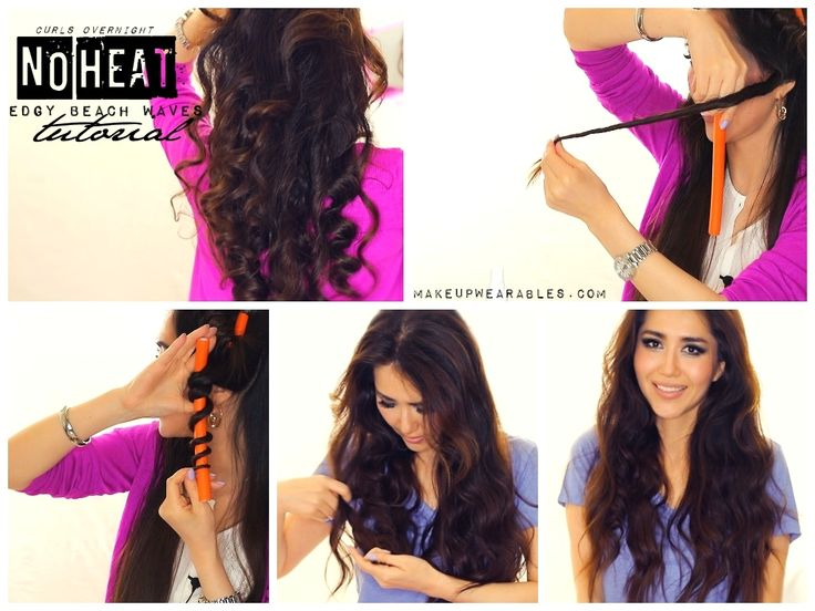 Easy, overnight,  no-heat beach waves tutorial | Heatless hairstyles