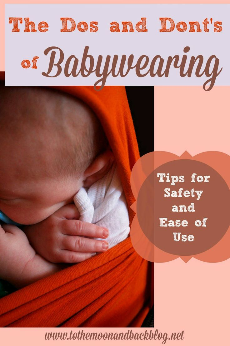 The Dos and Don'ts of Babywearing Some good info here if you would like to learn more. #baby #babywearing #parenting
