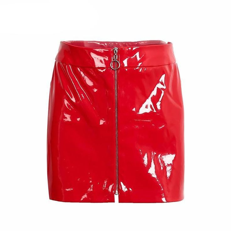 Jones Faux Leather Zipper Skirt