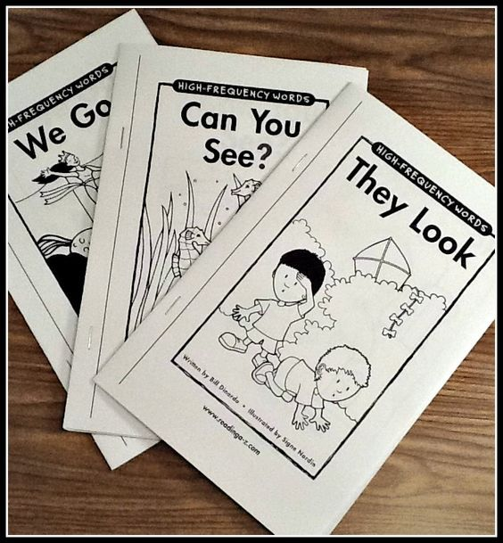 Teaching Sight Words. Printable books