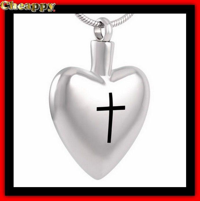 As hanger, As urn is in de vorm van een hart met een kruis - Cheappy