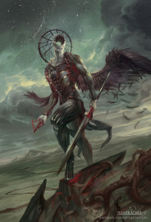 Simikiel, Angel of Vengeance by PeteMohrbacher ...   Creatures from Dreams