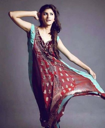 Ladies Winter Dresses Collection By Sanober Azfar (2)