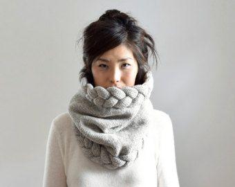 Klobige Motorhaube Haube stricken Schal Kapuzen-Schal von IRISMINT