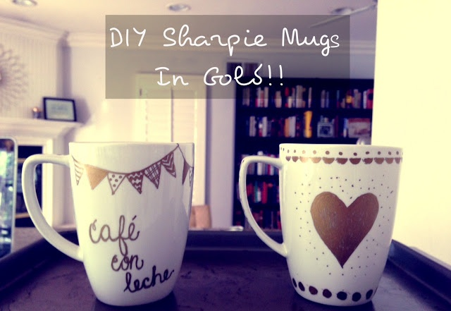 DIY Sharpie Mugs in Gold