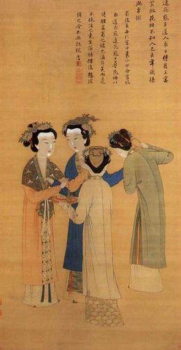 明-唐寅-孟蜀宫妓图-北 Painted by the Ming Dynasty artist Tang Yin 唐寅(伯虎)