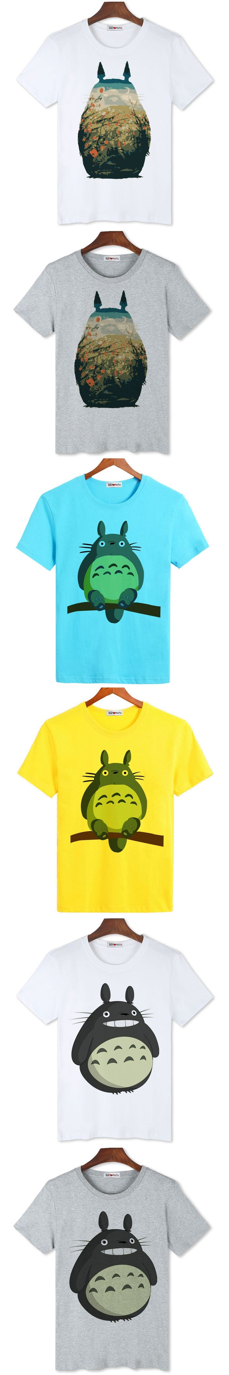 BGtomato T shirt super fashion cool Totoro anime t shirt men's popular cartoon cat shirt Original brand good quality tee shirt