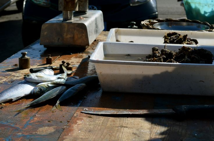 Fish market in Bari