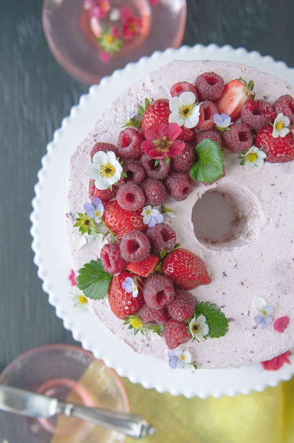 Raspberry Lychee Chiffon Cake | Hungry Rabbit