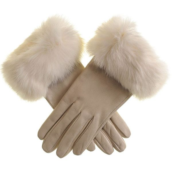 Black Cream Leather Gloves with Rabbit Fur Cuff ($125) ❤ liked on Polyvore featuring accessories, gloves, rabbit fur leather gloves, black gloves, rabbit fur gloves, rabbit gloves and cream gloves